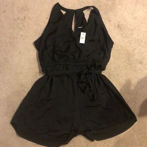 NEW EXPRESS Black satin romper